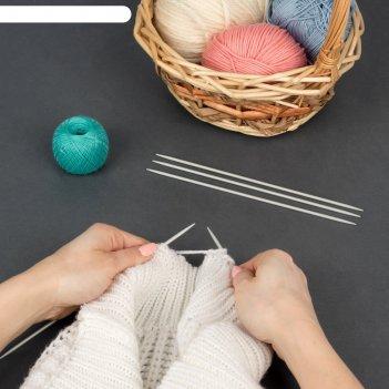 Спицы для вязания, чулочные, d = 3 мм, 20 см, 5 шт