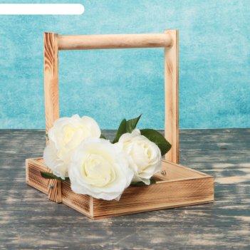 Кашпо для цветов и макарун с ручкой экзотик, 25х23х4,5см