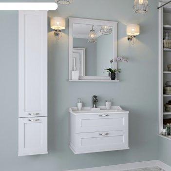Зеркало акватон леон 65, цвет цвет дуб белый