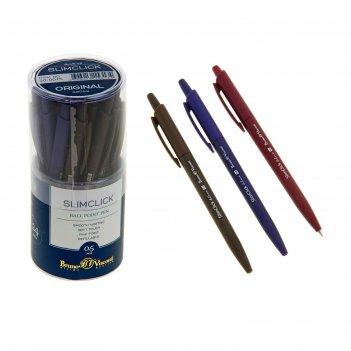 Ручка шариковая автоматическая slimclick.original стержень синий, узел 0.5