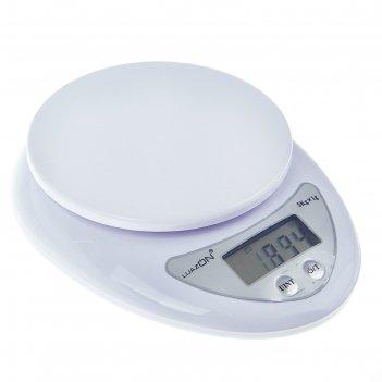 Весы luazon lvk-501, электронные, кухонные, до 5 кг, белые (не в комплекте
