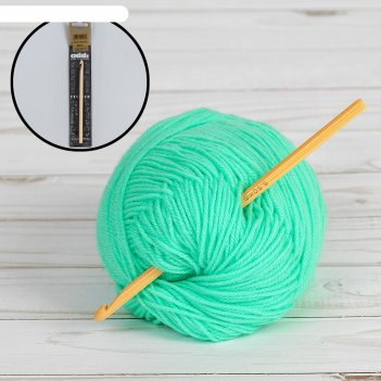 Крючок для вязания, бамбук, №5,5, 15см