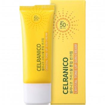 Солнцезащитный крем для лица celranico spf50, выравнивающий тон кожи, 40 м