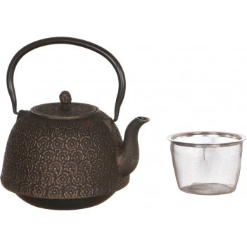 Заварочный чайник чугунный с эмалированным покрытием внутри 1400 мл (кор=8