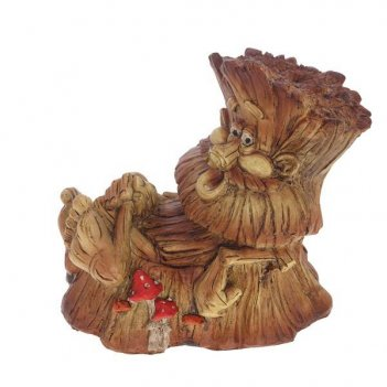 Фигура декоративная садовая пенек-лесовичок №2 l21w13h19 с...
