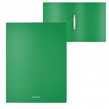 Папка на 2 кольцах а4 erichkrause classic 24 мм, зеленая 47015