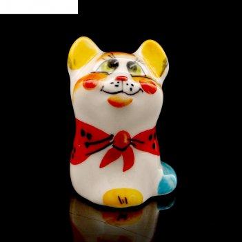Статуэтка фарфоровая «кошка матрёшка», 5см