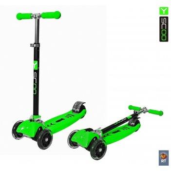 Самокат y-scoo maxi city rt simple gagarin трансформер green