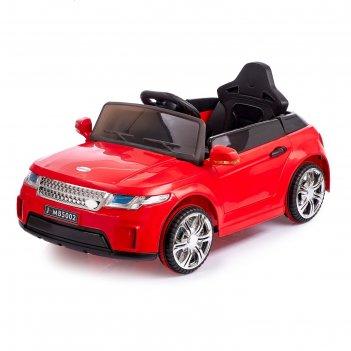 Электромобиль ренджик, 2 мотора, радиоуправляемый, fm, usb, цвет красный