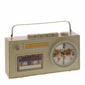 Часы настольные декоративные магнитофон , l29,5 w8,5 h17 см, (1хаа не прил