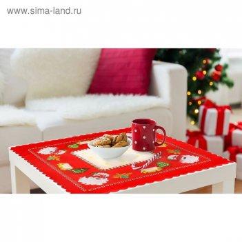 Скатерть collorista праздничный стол (вид4) 80*80 см, 100% п/э