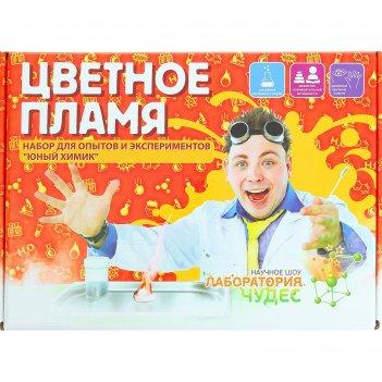 Набор для опытов цветное пламя юный химик