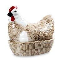 Подставка для яиц, размер: 23,4 х 16,8 х 21 см, материал: керамика, декор,