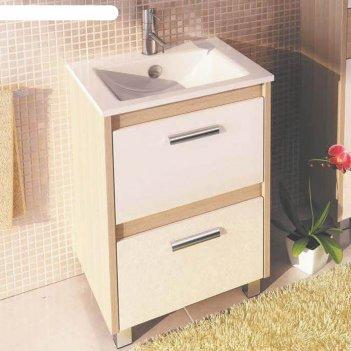 Тумба-умывальник для ванной тулуза-60 85,5 х 61 х 47 см с раковиной quadro