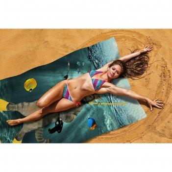 Пляжное покрывало «морской кот», размер 145 x 200 см