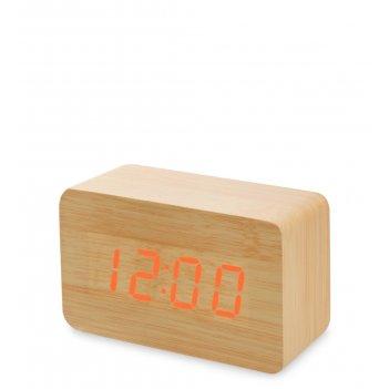 Ял-07-05/10 часы электронные сред. (жёлтое дерево с красной подсветкой)