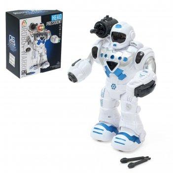Робот герой, световые и звуковые эффекты, работает от батареек, цвета микс