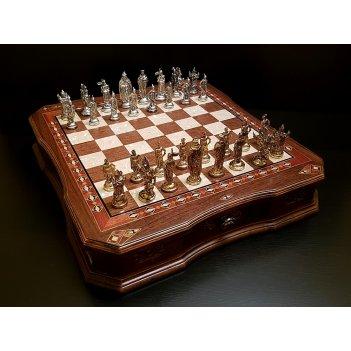 Шахматы сражение орех антик