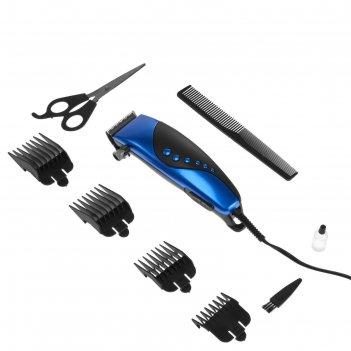 Машинка для стрижки волос irit ir-3309, 4 уровня стрижки, 10 вт,  электрич