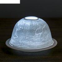 Ночник керамический сторожка 13х8,5 см