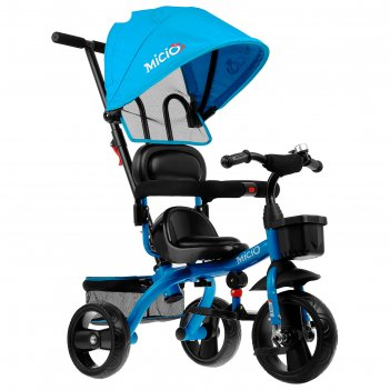 Велосипед трехколесный micio gioia, колеса eva 10/8, цвет синий