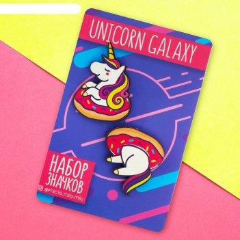 Значок на подложке unicorn galaxy