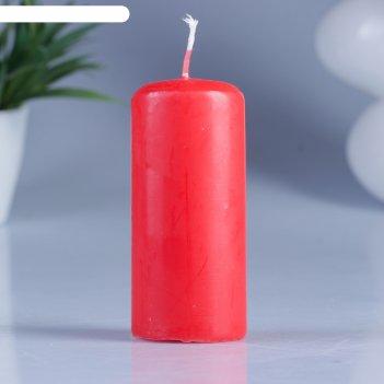 Свеча классическая 4х9 см, красная