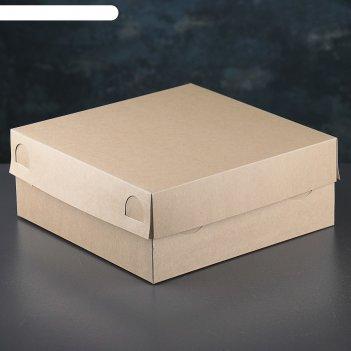 Упаковка для капкейков, крафт, без окна на 9 шт, 25 х 25 х 10 см