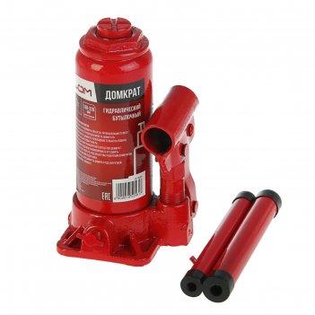 Домкрат гидравлический бутылочный lom, 6 т высота подъема 178-338 мм