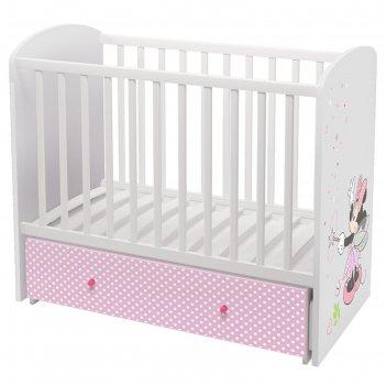 Детская кроватка polini kids disney baby  «минни маус-фея» маятник, цвет б