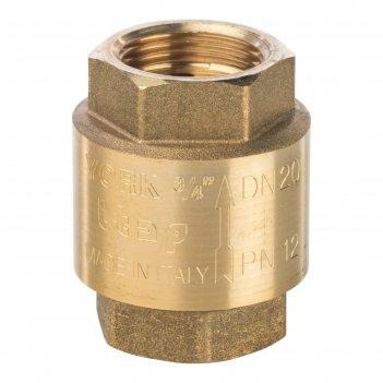 Обратный клапан stout, 3/4, пружинный, муфтовый, с металлическим седлом, s