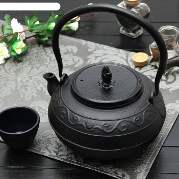 Чайник 1,4 л дари с эмалированным покрытием, цвет черный