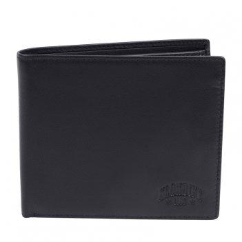 Бумажник klondike claim, натуральная кожа в черном цвете, 12 х 2 х 10 см