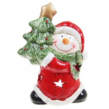 Подсвечник керамика дедушка/олень/снеговик микс, 14,4х10,2х6 см