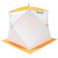 Палатка призма 170 (1-сл) стандарт композит, бело-оранжевая