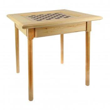 Стол шахматный 720х720х720 с фигурами и ящиком