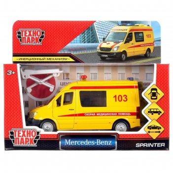 Машина mercedes-benz sprinter реанимация 14 см, открыв. двери, инерц. spri