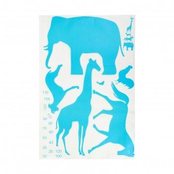 Наклейка интерьерная плоская ростомер - зоопарк