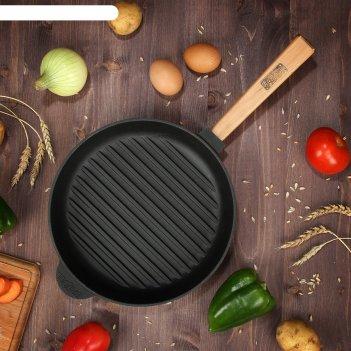 Сковорода чугунная грильоптима, brizoll, 26 х 4 см