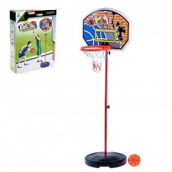 Набор спортивный баскетбол, с напольной корзиной и мячом