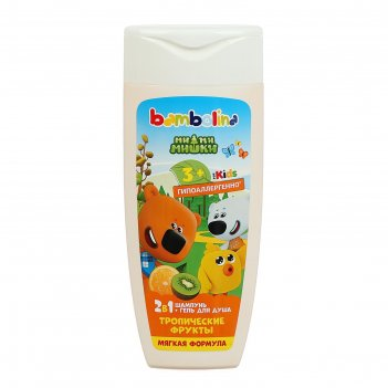 Шампнь и гель для душа bambolina смешарики для детей тропические фрукты 25