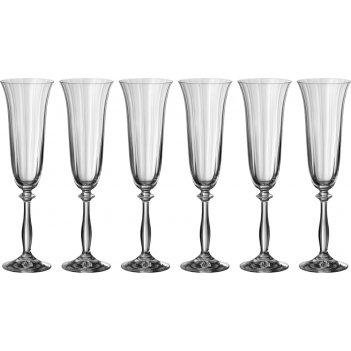 Набор бокалов для вина из 6 шт.анжела оптик 190 ...