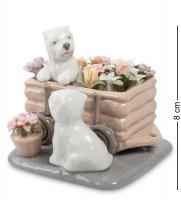 Cms-15/89 фигурка щенята цветы для хозяйки (pavone)