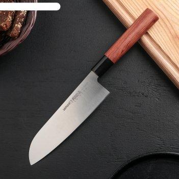 Нож кухонный samura okinawa сантоку 175 мм, aus-8, палисандр