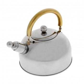 Чайник из нержавеющей стали 2,5 л роскошь со свистком