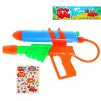 Пистолет водный, с эксклюзивными наклейками, цвета микс