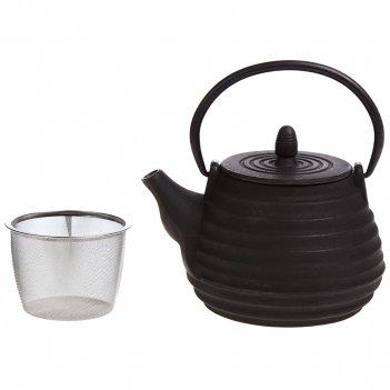 Заварочный чайник чугунный с эмалированным покрытием внутри 1000 мл. (кор=