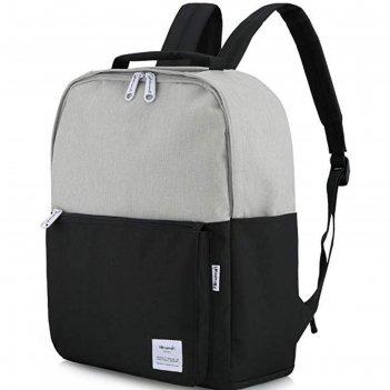 Рюкзак himawari hw-0511 серый/черный, 15.6