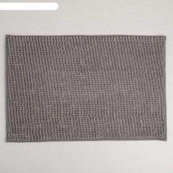 Коврик «букли», 40x60 см, цвет серый
