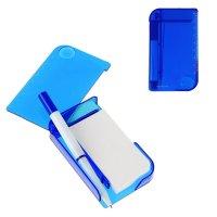 Блокнот с ручкой линейка лупа 11 х 6,5см синий